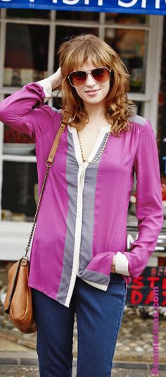"Radiant Orchid and Paloma - ""Pantone's 10 Colors for Spring / Summer 2014: Mix and Match Fashion"" at   http://boomerinas.com/2013/12/11/pantones-10-colors-for-spring-summer-2014-mix-and-match-beautifully/"