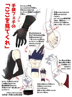 How to draw gloves wrists
