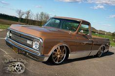 Chevrolet : C-10 C10 PICKUP AIR BAGGED RESTO MOD SHOW TRUCK HOT ROD in Chevrolet   eBay Motors