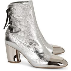 Proenza Schouler Silver Sorentino Ankle Boots