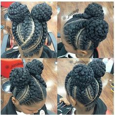 Space bun braid styles are in! Click the link see more braid styles!