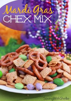 Quick and easy Mardi Gras snack. Ready in 15 minutes. Perfect for any Fat Tuesday celebration...or just because.