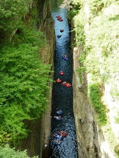 Lazy River - NY Taking you through the lower chasm where you'll feel like you're in another world, the Float Tour is a great activity to experience with friends and family. Oh The Places You'll Go, Places To Travel, Places To Visit, Hiking Places, Hiking Trails, Travel Destinations, New York Travel, Travel Usa, Lake George Village