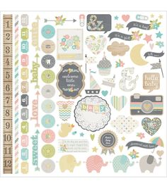 "Hello Baby Cardstock Stickers 12""X12""-FundamentalsHello Baby Cardstock Stickers 12""X12""-Fundamentals,"