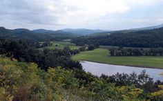 Looking across the Connecticut River into New Hampshire from Barnet, VT.