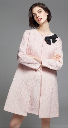Coat in embossed organza - Coats - Collection - Fall-Winter 2015-16