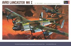 Revell Avro Lancaster Mk l Early '60s Box