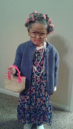 old lady costume for kids - Simple Toddler Halloween Costumes