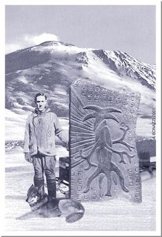 Lovecraft and a stone representing an Elder Thing. This is just scary!
