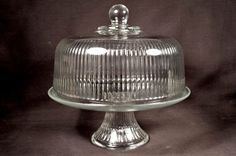 Your place to buy and sell all things handmade Cake Stand With Dome, Cake Stands, Cake Carrier, Glass Cakes, Cake Cover, Glass Texture, Cake Plates, Serving Dishes, Vintage Kitchen