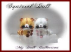 Beaded Squirrel Doll PATTERN experienced could also be a Raccoon!