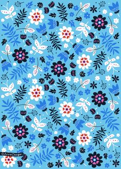 Secret Garden Collection by Anna Deegan, via Behance