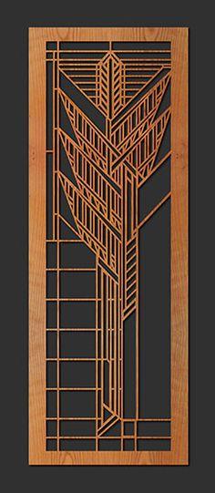 Decorative Frank Lloyd Wright Designed Laser Cut Wood Element