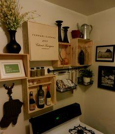 Wine Box Decor Dom Perignon Side Table Wine Crate  No One Has These Wine Boxes