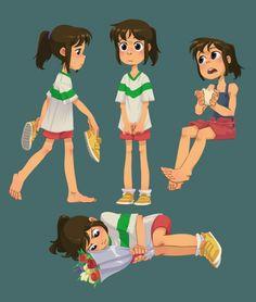 Freelance artist from Toronto Cartoon Design, Cartoon Styles, Cartoon Art, Film Anime, Anime Manga, Character Concept, Character Art, Chihiro Y Haku, Studio Ghibli Art