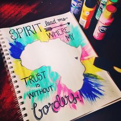 Spirit lead me where my trust is without borders. So that my faith can be made stronger. Silhouettes, Art Projects, Projects To Try, Diy And Crafts, Arts And Crafts, Spirit Lead Me, We Are The World, Crafty Craft, Crafting