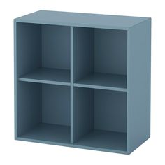 IKEA - EKET, Cabinet with 4 compartments, light blue, , A simple unit can be enough storage for a limited space or the foundation for a larger storage solution if your needs change.You can choose to place the cabinet on the floor or mount it on the wall to free up floor space.Assembly is quick and easy, thanks to the wedge dowel that clicks into the pre-drilled holes.