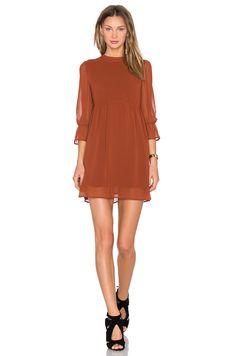 Line & Dot Renee Babydoll Dress in Bourbon | REVOLVE