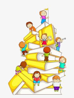 Illustration about Vector illustration of kids climbing in stack of book. Illustration of concept, innocence, preschool - 26347112 Free Homeschool Curriculum, Homeschooling, Kids Climbing, School Murals, School Clipart, Classroom Decor, Childrens Books, Back To School, School School