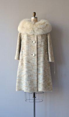 Lilli Ann coat 1960s fox fur collar coat vintage by DearGolden