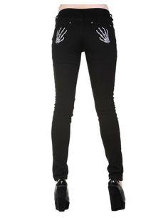 53f04c2c8cc7 GALS    Skeleton Hands Skinny Jeans - SugarSkulls stocks Tattoo Inspired  Alternative Clothing   Accessories