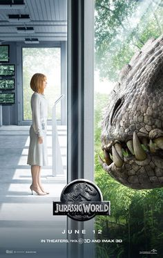 Face off!, Jurrasic World. Claire dearing and a HUGEEEEE dinosaur
