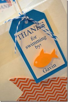 Fish Birthday Party Favor Bags | Laurel Lane