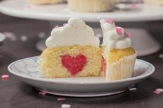 Heart Surprise Cupcakes | Community Post: 19 Lovely Cupcakes To Make This Valentine's Day