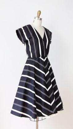 Black & White Chevron Dress from Etsy