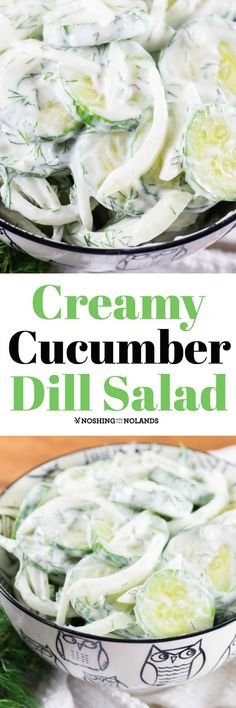 Lower Excess Fat Rooster Recipes That Basically Prime Creamy Cucumber Dill Salad By Noshing With The Nolands Is A Salad That You Can Have Together In Minutes. Cool And Refreshing And Goes Great With Any Bbq Entree Cucumber Dill Salad, Creamy Cucumbers, Vegetable Side Dishes, Vegetable Recipes, Summer Salads, Summer Dishes, Summer Fruit, Summer Food, Healthy Salad Recipes