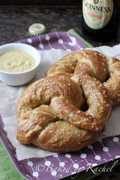 Soft Guinness Pretzels with Sea Salt Recipe - bakedbyrachel.com