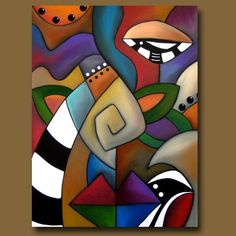 Art 'Odoriferous' - by Thomas C. Fedro from Cubist Abstract Painting Techniques, Blue Abstract Painting, Acrylic Painting Canvas, Black Abstract, Portraits Cubistes, Cubist Art, Art Moderne, Zentangle, Modern Art