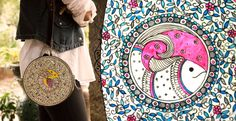 leather hand painted bags by moya Designe