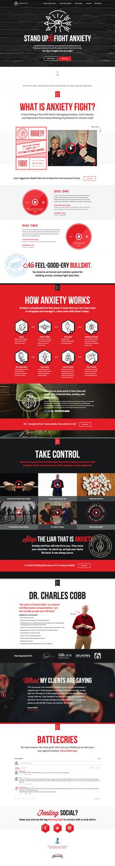 Fantastic design. | Anxiety Fight by Forefathers Group, via Behance