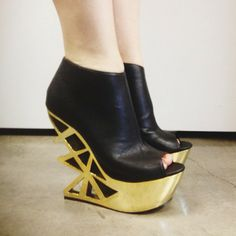 Just got these on EXTREME SALE from my favorite shoe store, Solestruck.com  They're the Jennifer Chou LaChance in Gold