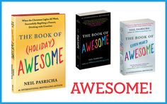 The books! Neil Pasricha, Encouragement, Celebrities, Awesome, Books, Libros, Celebs, Book, Be Awesome