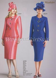 Purple Church Suits | Moshita 6239 - Fall 2013 - www.WomensSkirtSuits.com
