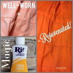 Rejuvenate worn clothes with Rit Dye.