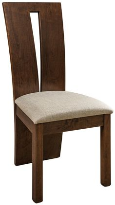 The skill of Amish woodworkers shape and sculpt the exciting Delphi Dining Chairs for your modern dining room furniture collection. Shop DutchCrafters for cont Contemporary Dining Chairs, Modern Chairs, Contemporary Furniture, Cafe Chairs And Tables, Side Chairs, Woodworking Desk Plans, Woodworking Projects, Teak Dining Table, Amish Furniture