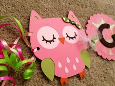 Owl Birthday Banner- Personalized- Birthday Party, Baby Shower- Cardstock- Owl, Lion, Monkey, etc. on Etsy, $32.52 CAD