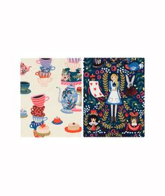 This Alice in Wonderland-Inspired Fabric Collection Is Pure Whimsy | Popular stationery company Rifle Paper Co. just launched its second line of textiles.