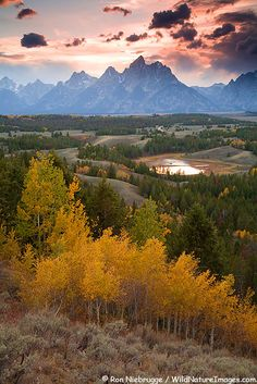 Sunset, Grand Teton National Park, Wyoming