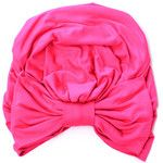 Turban With Bow Fuchsia Jersey Knit Fashion Hair Covering Lots of Colors