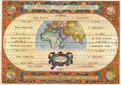 Old, antique map of the Ancient World by Ortelius Abraham Vintage Maps, Antique Maps, Vintage Wood, Old World Maps, Old Maps, Acrylic Frames, Fine Paper, Memento Mori, Cartography