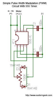 Eastern Geek: Simple (and dirty) Pulse Width Modulation (PWM) For Motor Speed Control