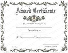 Free Printable Certificate Of Recognition   Google Search  Free Blank Certificates