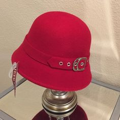 FINAL PRICE!!!  Red wool bucket hat Brand new with tags. Never worn. Merona Accessories Hats