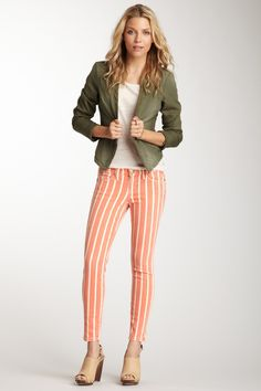 Current/Elliott - The Stiletto Skinny Pant (Kind of in love with the vertical stripes...)