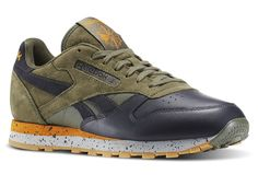 Basket Reebok Classic Leather SM Hunter Green (1)