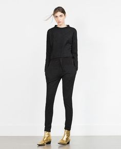 Image 1 of JACQUARD JOGGING TROUSERS from Zara